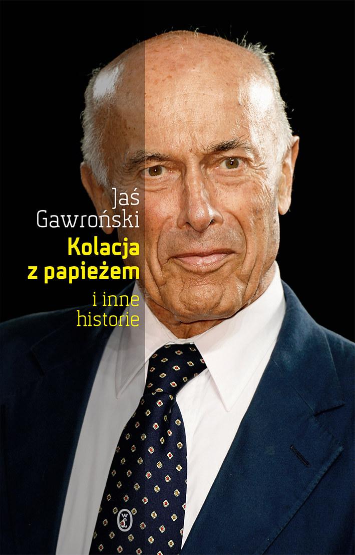 """Okładka książki """"Kolacja z papieżem i inne historie"""" /Okładka /Materiały prasowe"""
