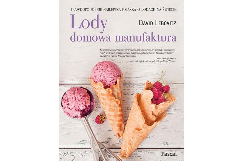 """Okładka książki """"Lody. Domowa manufaktura"""" Davida Lebovitza /materiały prasowe"""