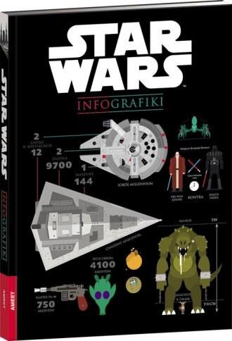 """Okładka książki """"Star Wars - Infografiki"""" /materiały prasowe"""