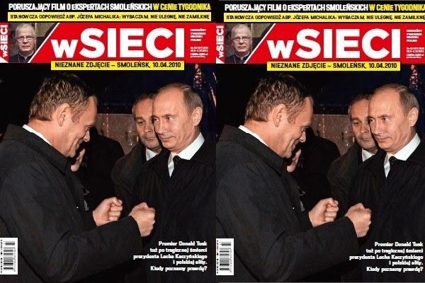 """Okładka najnowszego numeru tygodnika """"wSieci"""" /""""wSieci"""" /"""