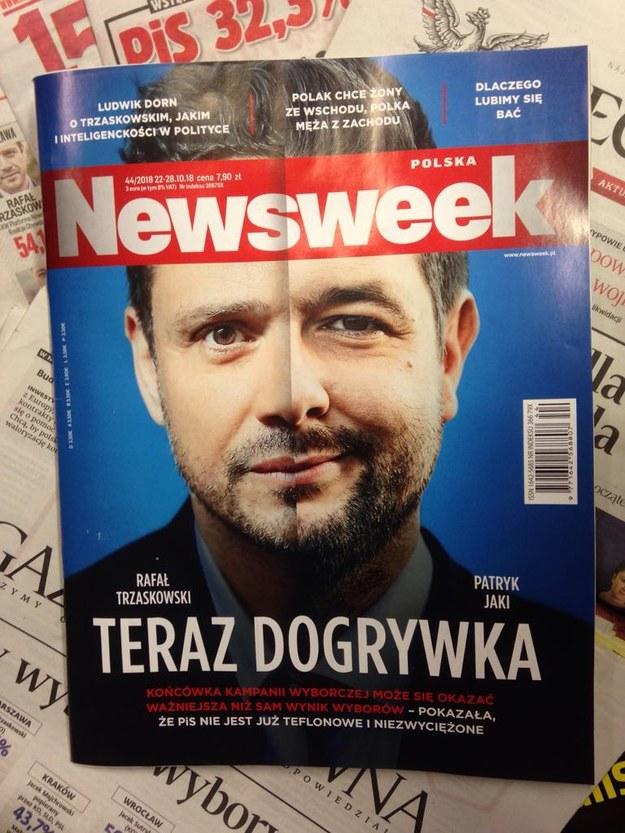 """Okładka """"Newsweeka"""" z 22.10.2018 /INTERIA.PL"""