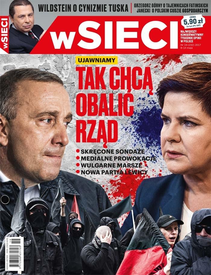 Okładka nowego numeru tygodnika /wSieci /Materiały prasowe