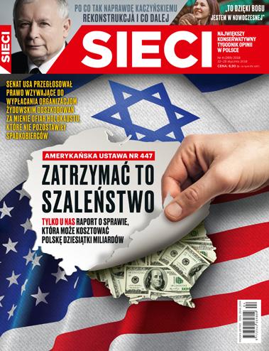 """Okładka nowego wydania tygodnika """"Sieci"""". /materiały prasowe /"""