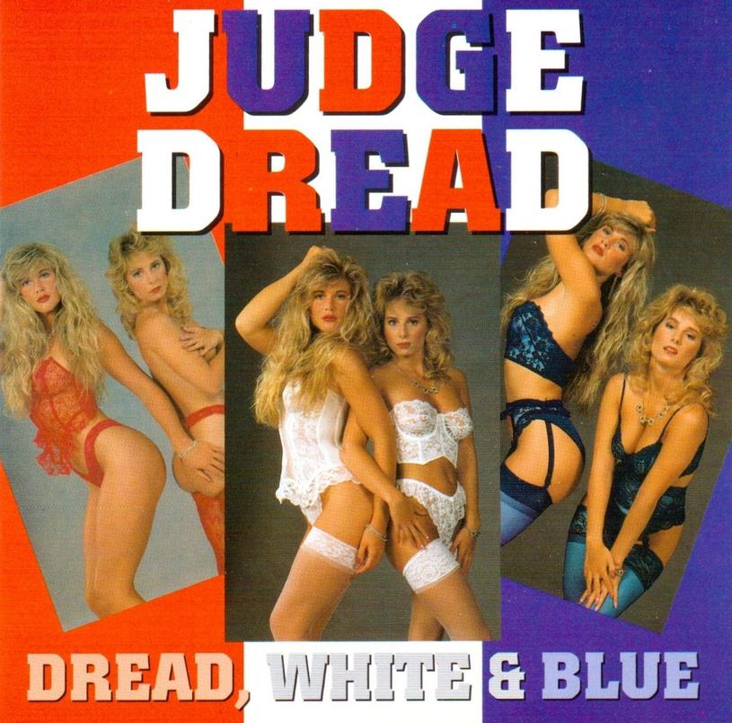 """Okładka płyty """"Dread White & Blue"""" Judge Dreada /"""