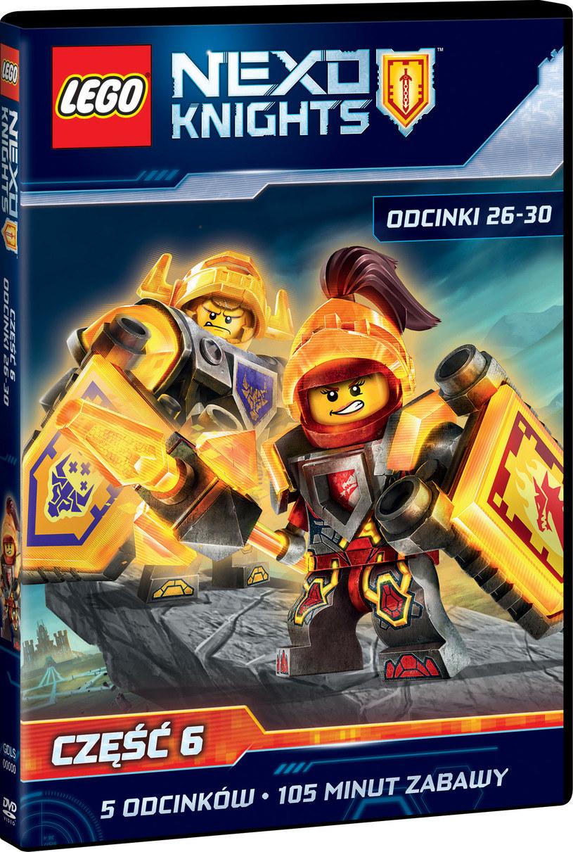 Okładka szóstego DVD z przygodami LEGO Nexo Knights /materiały prasowe