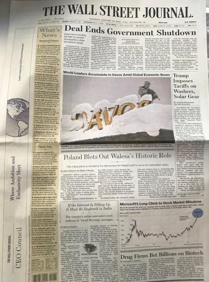 "Okładka ""The Wall Street Journal"" /Krzysztof Berenda /RMF FM"