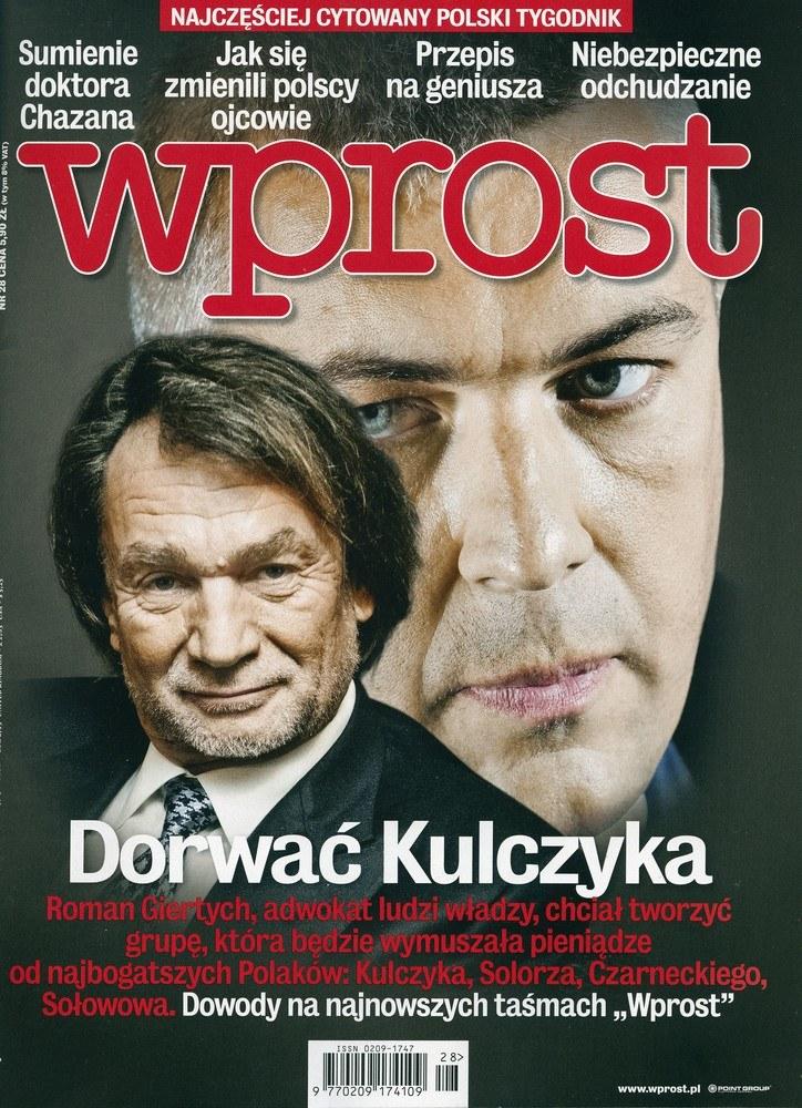 """Okładka tygodnika """"Wprost"""" /East News"""