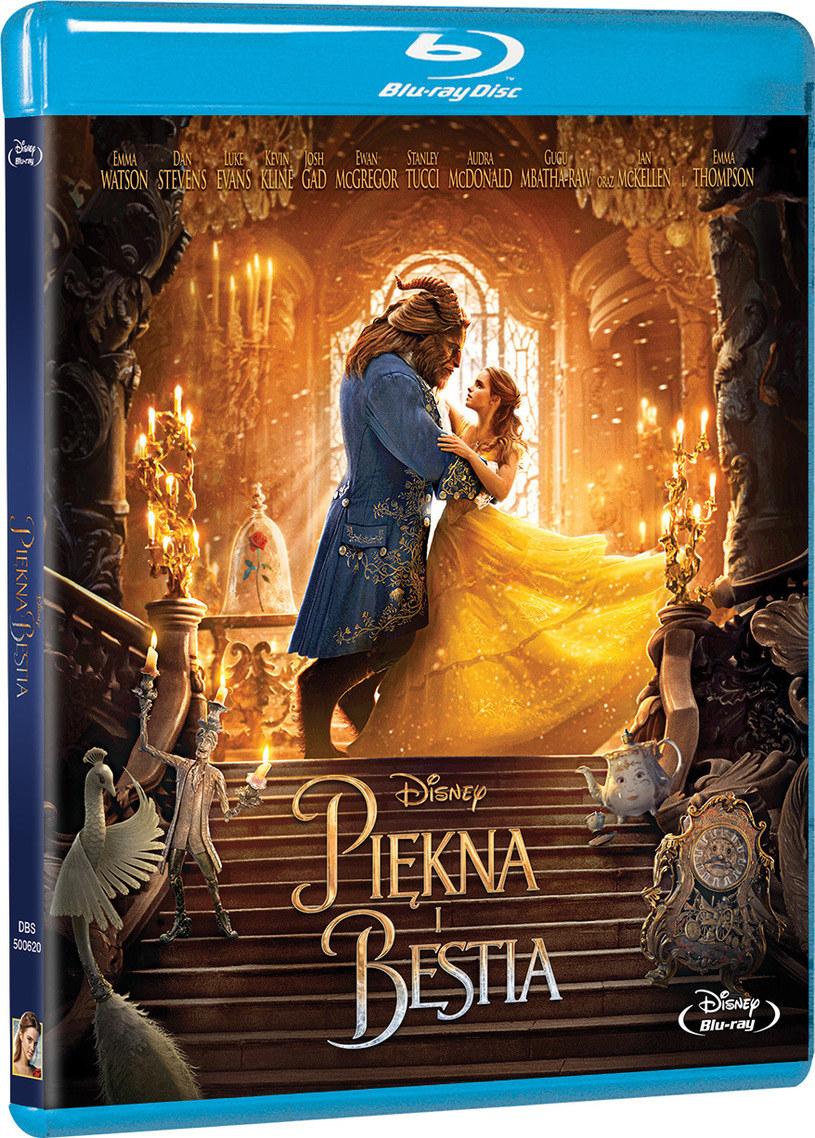 """Okładka wersji Blu-Ray filmu """"Piękna i Bestia"""" /materiały prasowe"""