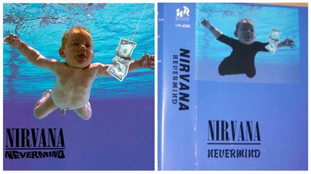 """Okładki """"Nevermind"""" Nirvany /"""