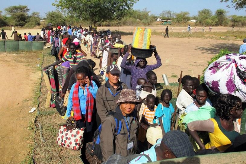 Około 45 tys. cywilów napłynęło do baz ONZ w poszukiwaniu schronienia /AFP