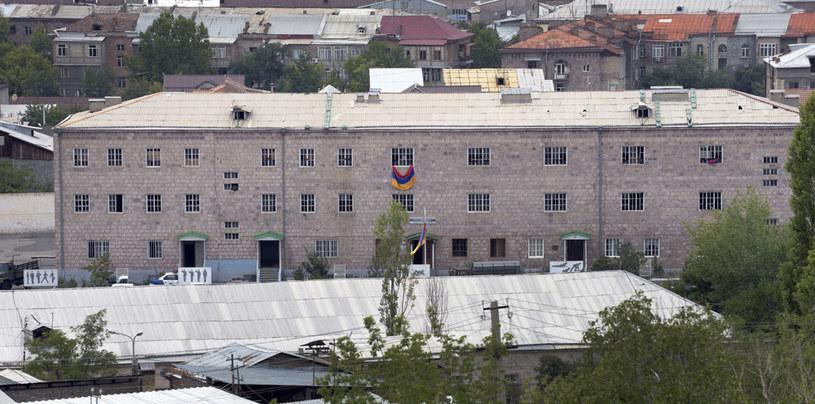 Okupowany posterunków policji w Erywaniu /AFP