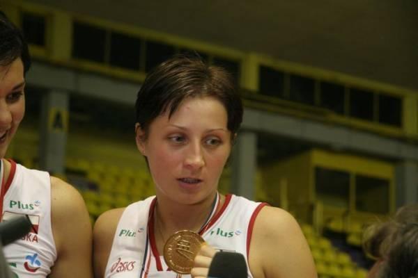 Ola Przybysz ze złotym medalem mistrzostw Europy /INTERIA.PL