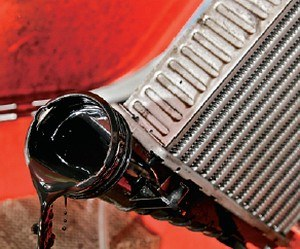 Olej w intercoolerze /Motor