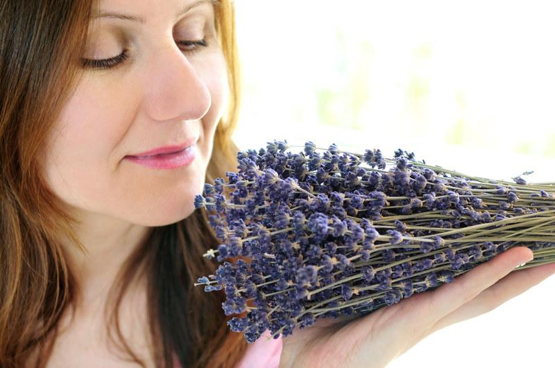 Olejek lawendowy uspokaja i likwiduje ból głowy. Świetnie usypia (wystarczy rozpylić zapach w sypialni, bądź skropić pościel) /© Panthermedia