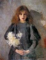 Olga Boznańska, Dziewczynka z chryzantemami, 1894 /Encyklopedia Internautica