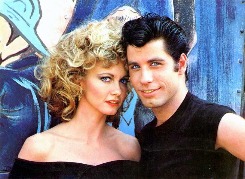 "Olivia Newton-John i John Travolta w filmie ""Grease"" /Mary Evans Picture Library /East News"