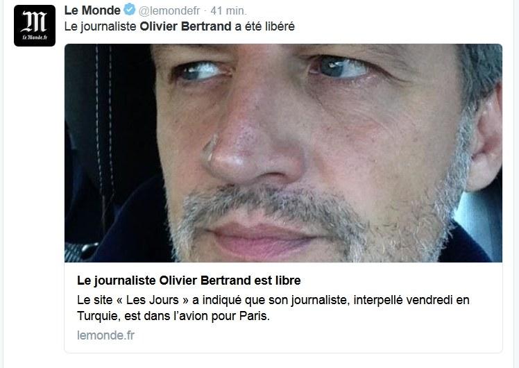Olivier Bertrand /Twitter