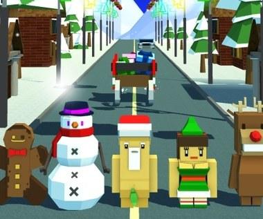 Omijanie przeszkód w mobilnym Road Hopper: Crazy Santa od Vivid Games