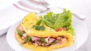 Omlet nadziewany szynką i pieczarkami
