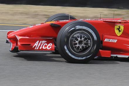 Opony stosowane przez Schumachera na Mugello /