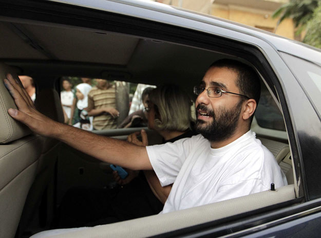 Opozycyjny bloger Alaa Abdel Fattah /AFP