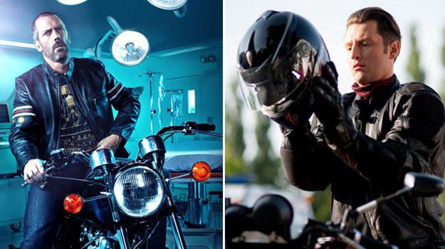 Orda chce być bardziej męski. Podobnie jak dr House przesiada się więc na motocykl. /Piotr Litwic/ materiały prasowe /TVN