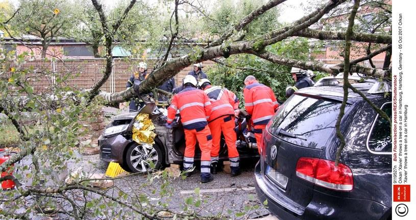 Orkan Ksawery spowodował poważne zniszczenia w Niemczech /Fl/action press/REX/Shutterstock /East News