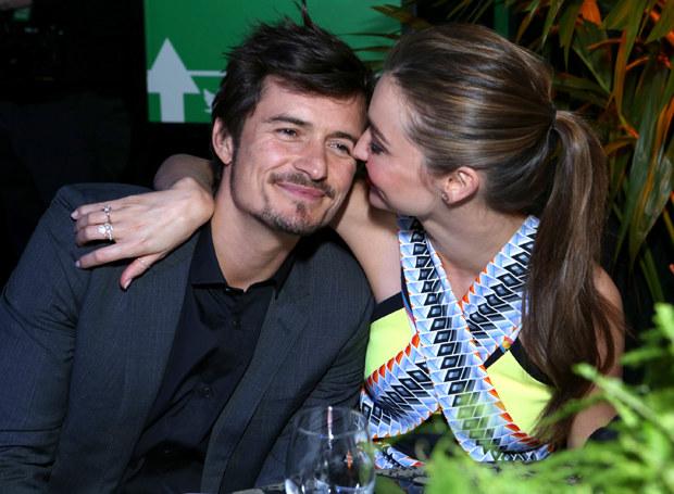 Orlando Bloom i Miranda Kerr jeszcze jako szczęśliwe małżeństwo /Getty Images