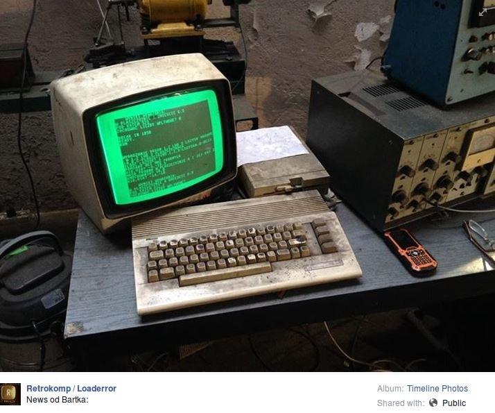 Oryginalne zdjęcie z Commodore 64 zamieszczone w styczniu na Facebooku /Internet