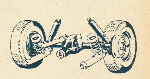 Oś sztywna z tyłu wozu prowadzona jest przez układ czterech drążków. Dwa z nich ustalają oś również na boki. /Ford
