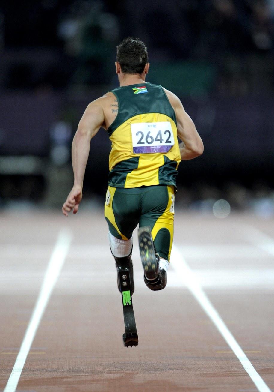 Oscar Pistorius. Igrzyska paraolimpijskie w Londynie w 2012 roku /Gary Mitchell/Landmark Media/DPA /PAP