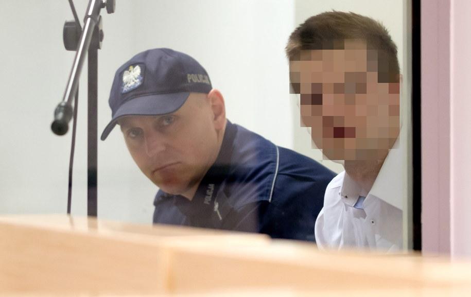 Oskarżony Adam Z. (P) na sali rozpraw /Jakub Kaczmarczyk /PAP