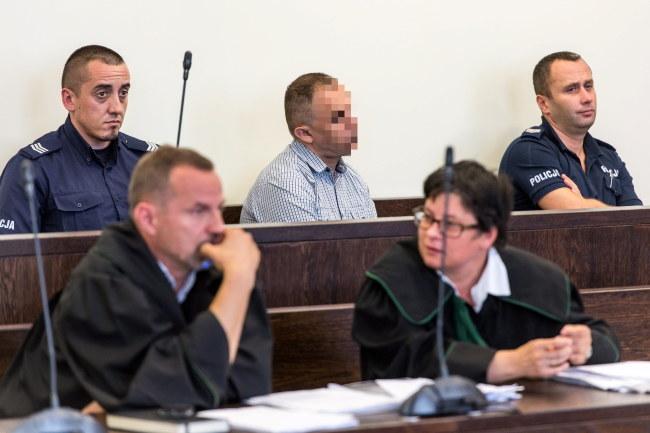 Oskarżony Krzysztof B. podczas procesu /PAP/Maciej Kulczyński  /PAP