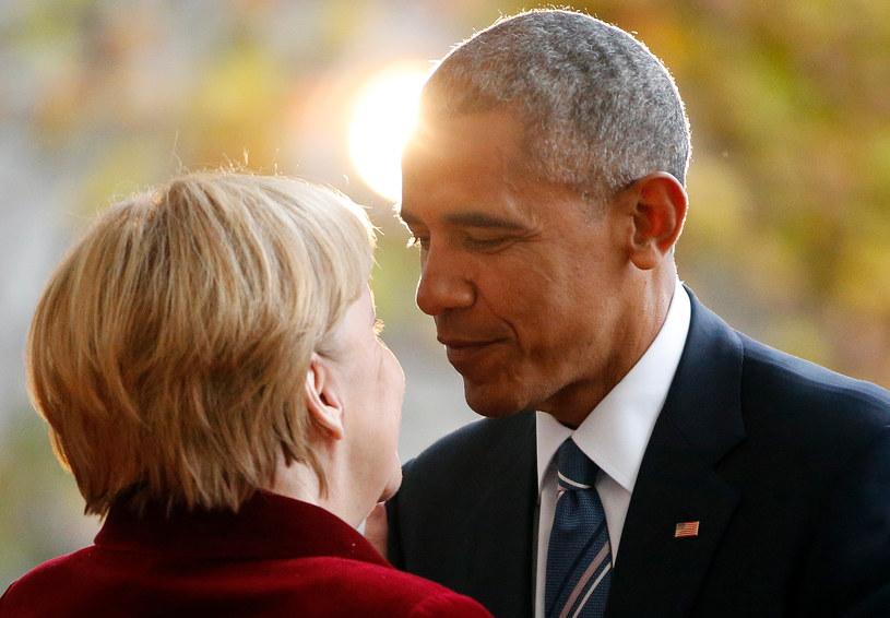 Ostatnia wizyta Baracka Obamy jako prezydenta USA w Niemczech (na zdj. z Angela Merkel) /REUTERS/Fabrizio Bensch /FORUM