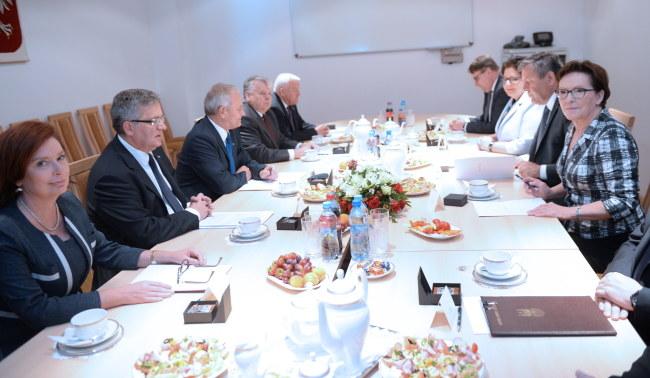 Ostatnie posiedzenie RBN w tym składzie /Jacek Turczyk /PAP