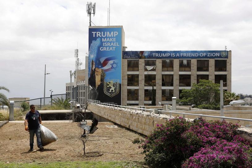 Ostatnie przygotowania do otwarcia ambasady USA w Jerozolimie /ABIR SULTAN /PAP/EPA