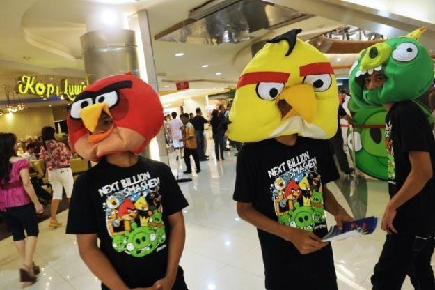 """Oszuści wykorzystywali popularność m.in. """"Angry Birds"""" do wyłudzania pieniędzy /AFP"""