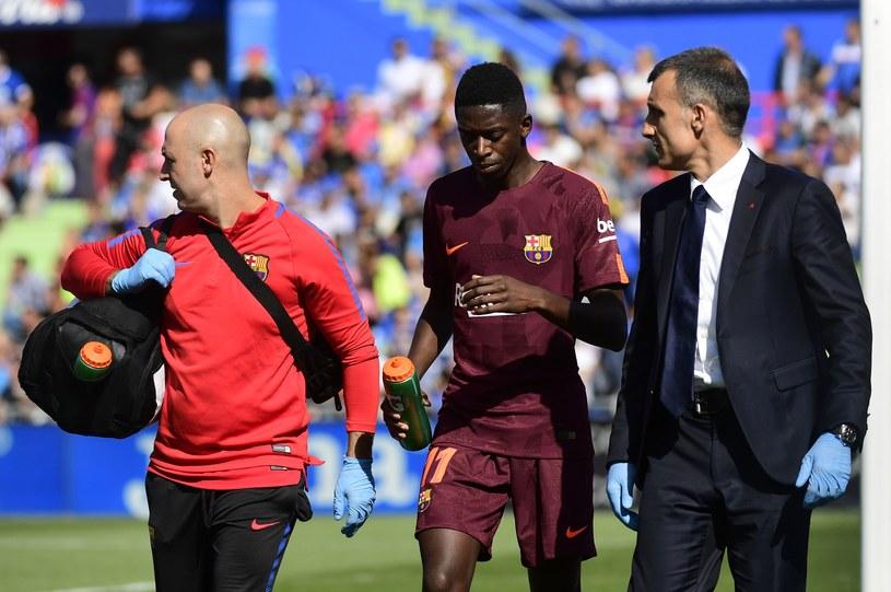 Ousmane Dembele doznał urazu w ligowym meczu z Getafe /AFP