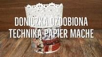 Ozdabianie doniczki techniką papier mache