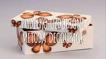 Ozdabianie pudełka metodą decoupage