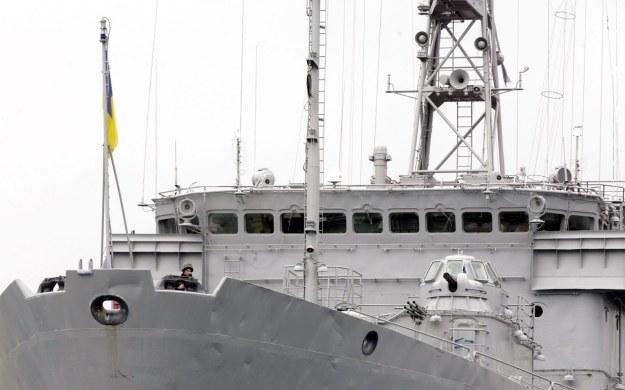 P.o. prezydenta Ukrainy Ołeksandr Turczynow zdymisjonował w niedzielę dowódcę ukraińskiej marynarki wojennej Denysa Berezowskiego /PAP/EPA