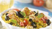 Paella z kurczakiem i pomidorami