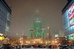 Pałac Kultury i Nauki w świątecznym wydaniu