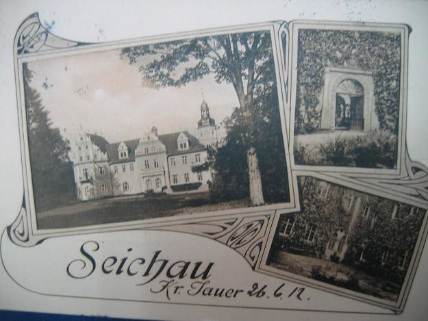 Pałac w Sichowie na starej pocztówce /Odkrywca