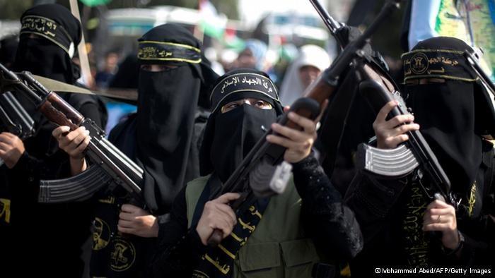 Palestyńskie bojowniczki dżihadu /Deutsche Welle