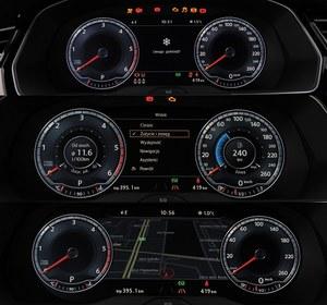 Panel Active Info Display ma bogate możliwości personalizacji – pokazuje np. informacje z komputera lub mniejsze tarcze i mapę. /Auto Moto