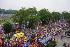 Papież Franciszek na krakowskich Błoniach