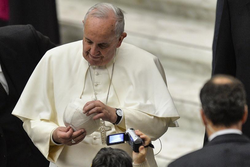 Papież Franciszek na srodowej audiencji generalnej /AFP