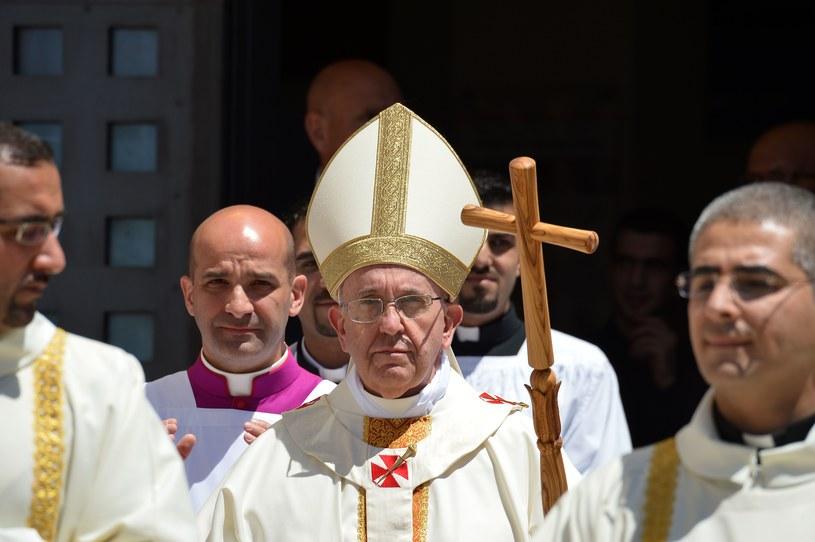 Papież Franciszek podczas wizyty w Izraelu /AFP