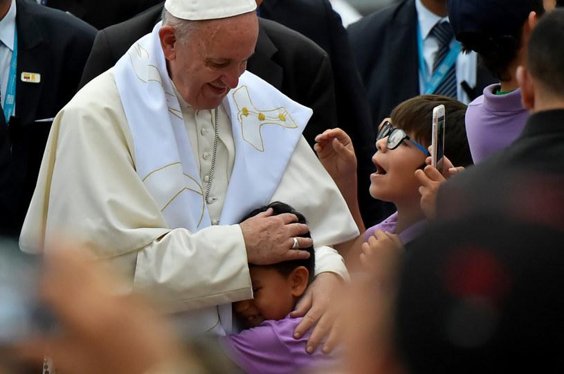 Papież Franciszek w Kolumbii /AFP